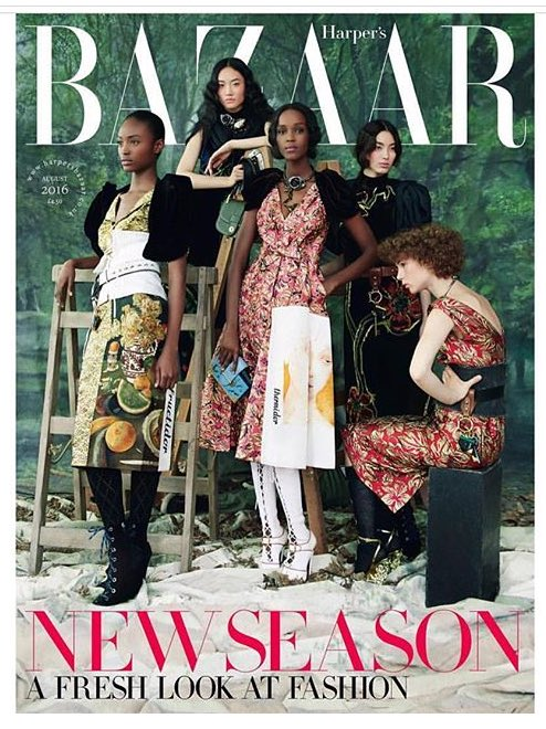 Happy to see @BazaarUK casting such a beautiful, diverse cover for this month's issue - sad to say this isn't common https://t.co/OflDZNuutU