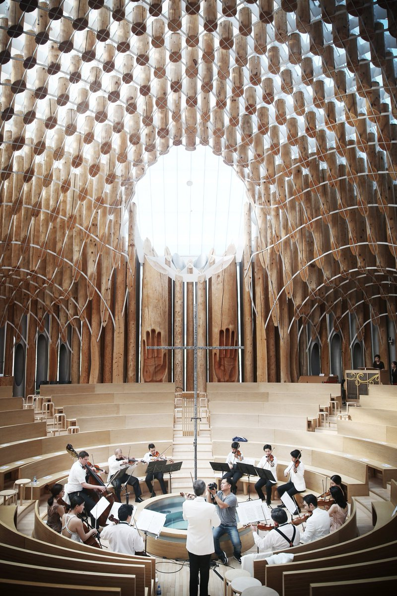Light of Life Chapel, Korea. Come for the music, stay for the architecture! @SejongSoloists https://t.co/jJSVrCwWIc