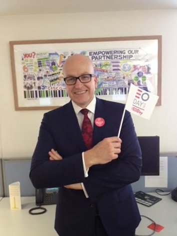Great to see our Chairman Simon Fowler, from @johnlewisretail  celebrating #EODay today https://t.co/UtUlfcUmLh