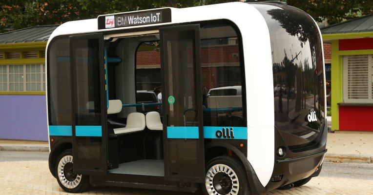 IBM's Watson makes a move into self-driving cars with Olli, a minibus from Local Motors