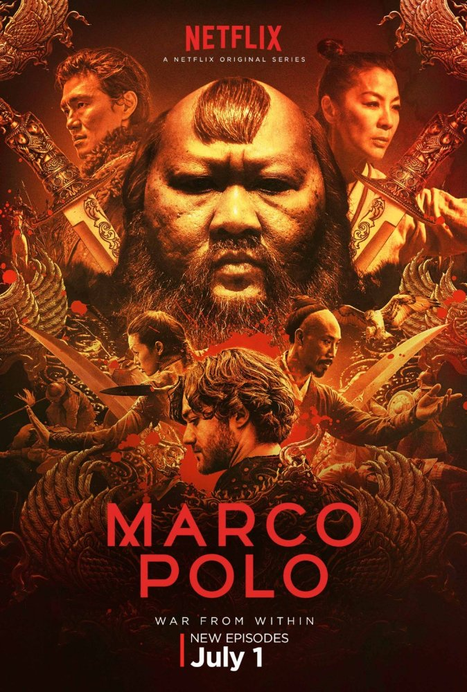 Our Tom Wu is back as fan favourite Hundred Eyes, in @netflix's epic drama @MarcoPoloMP! Series 2, streaming now!