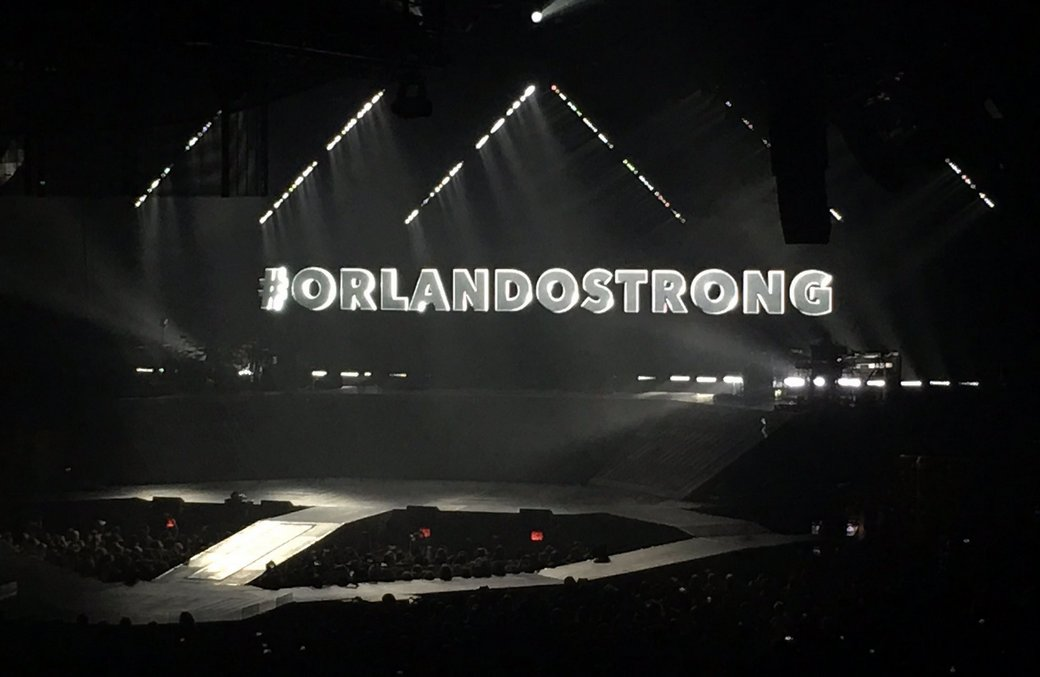 The names of the lost morphed into this at @justinbieber's Orlando show last night. https://t.co/Yt2Hwf1l7u