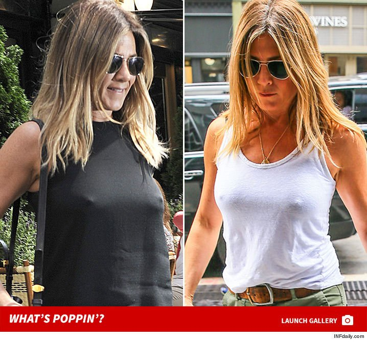 Jennifer aniston braless