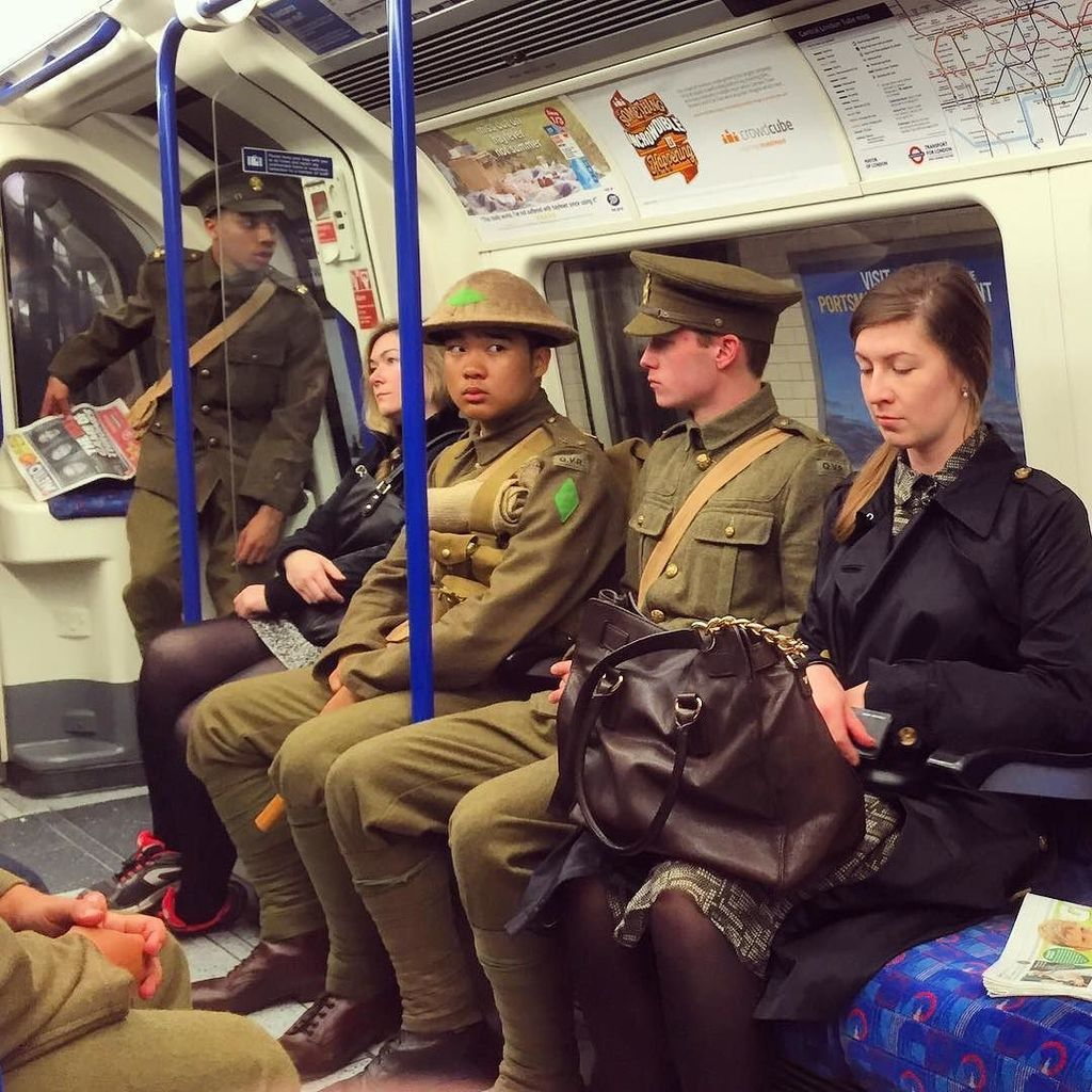 On the Northern Line... #wearehere https://t.co/XmJC9qK1rr