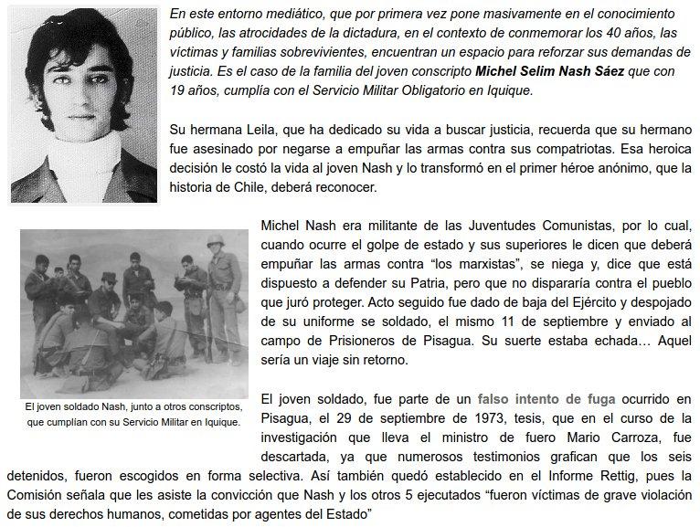#ATENTOS RT> ESTE SI ES UN VALIENTE SOLDADO DE CHILE en 1973 el joven Nash se niega adisparar contra los pobladores. https://t.co/lTudz0RAF9