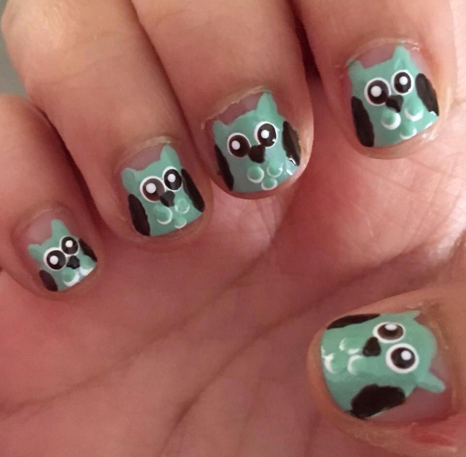 Ayma Fikree On Twitter Cute Owl Nail Art Cutepolish Nailart