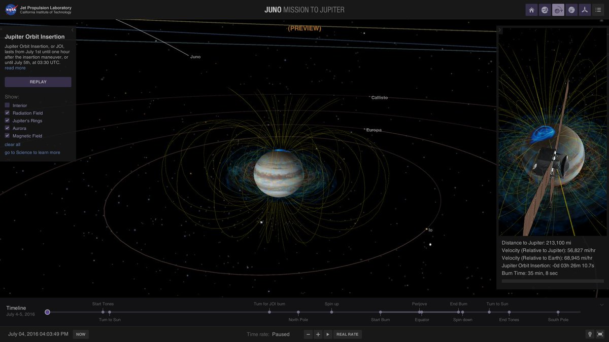 Follow @NASAJuno mission live on the #4thofJuly as #Juno arrives at Jupiter after 5 yrs https://t.co/CANkryN8u3 https://t.co/GY1yTytTAR