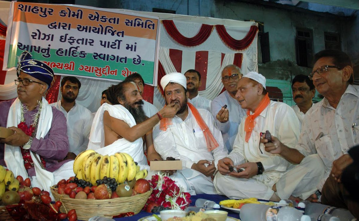 In photos: Ahmedabad Jagannath Mandir Mahant attends Iftar