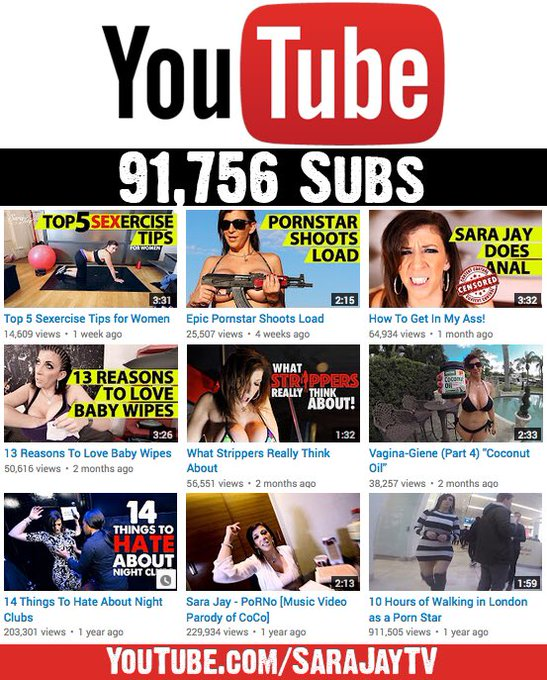 Only 8,244 more subs to hit 100k on my youtube channel #SaraJayTV ... #subscribe ??? https://t.co/Hzavy5PqSX