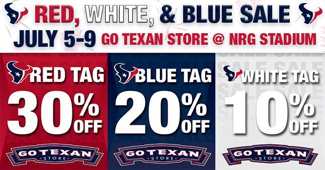 Houston Texans on Twitter: Stop by NRG Stadium July 5 9 for the Red  kxYLR0jo