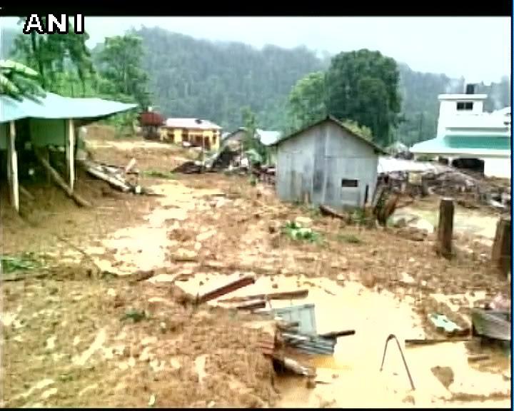 Visuals after landslide hit West Kameng district of Arunachal Pradesh