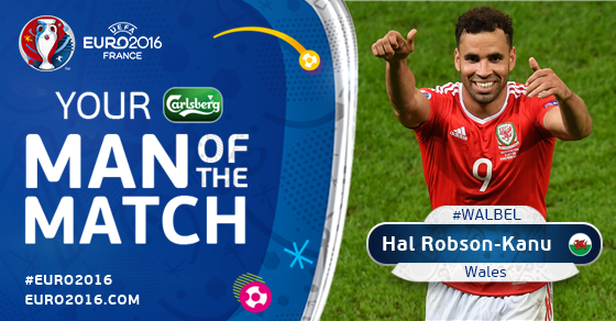 Robson-Kanu Man Of The Match Wales Vs Belgia