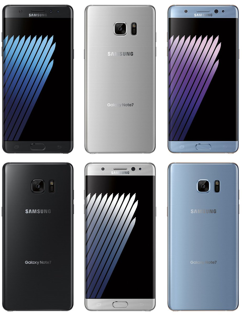 Varian warna Galaxy Note 7