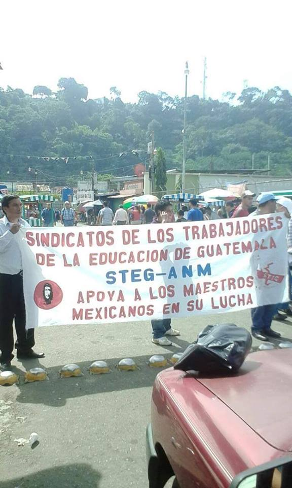 En Guatemala muestran su apoyo a la CNTE. Lucha magisterial podría tomar dimensión continental https://t.co/uYOy22f5O5