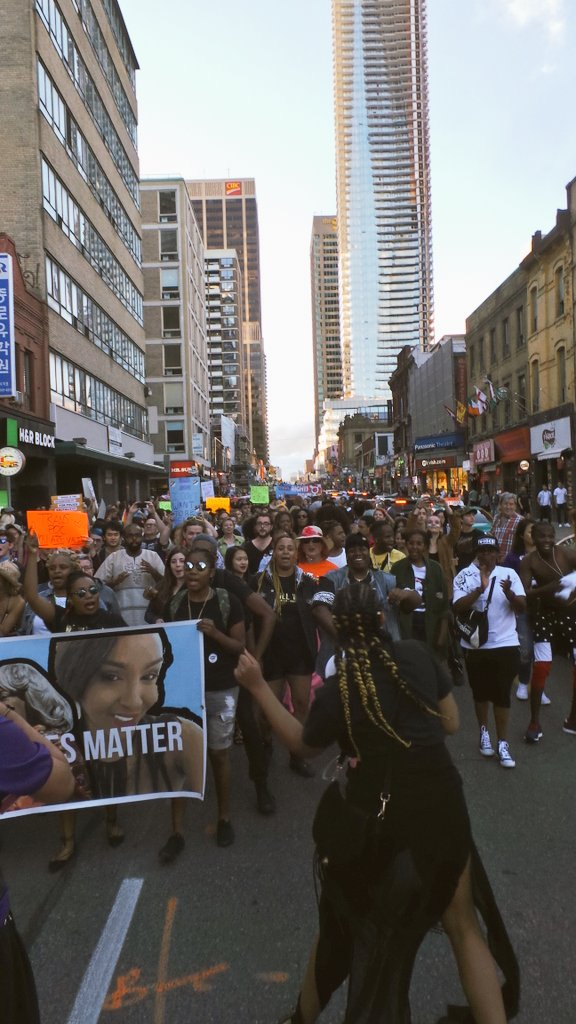 Black Lives Matter leads the largest-ever Trans March down Yonge, and it is effing epic: https://t.co/LgbHhX1b9a