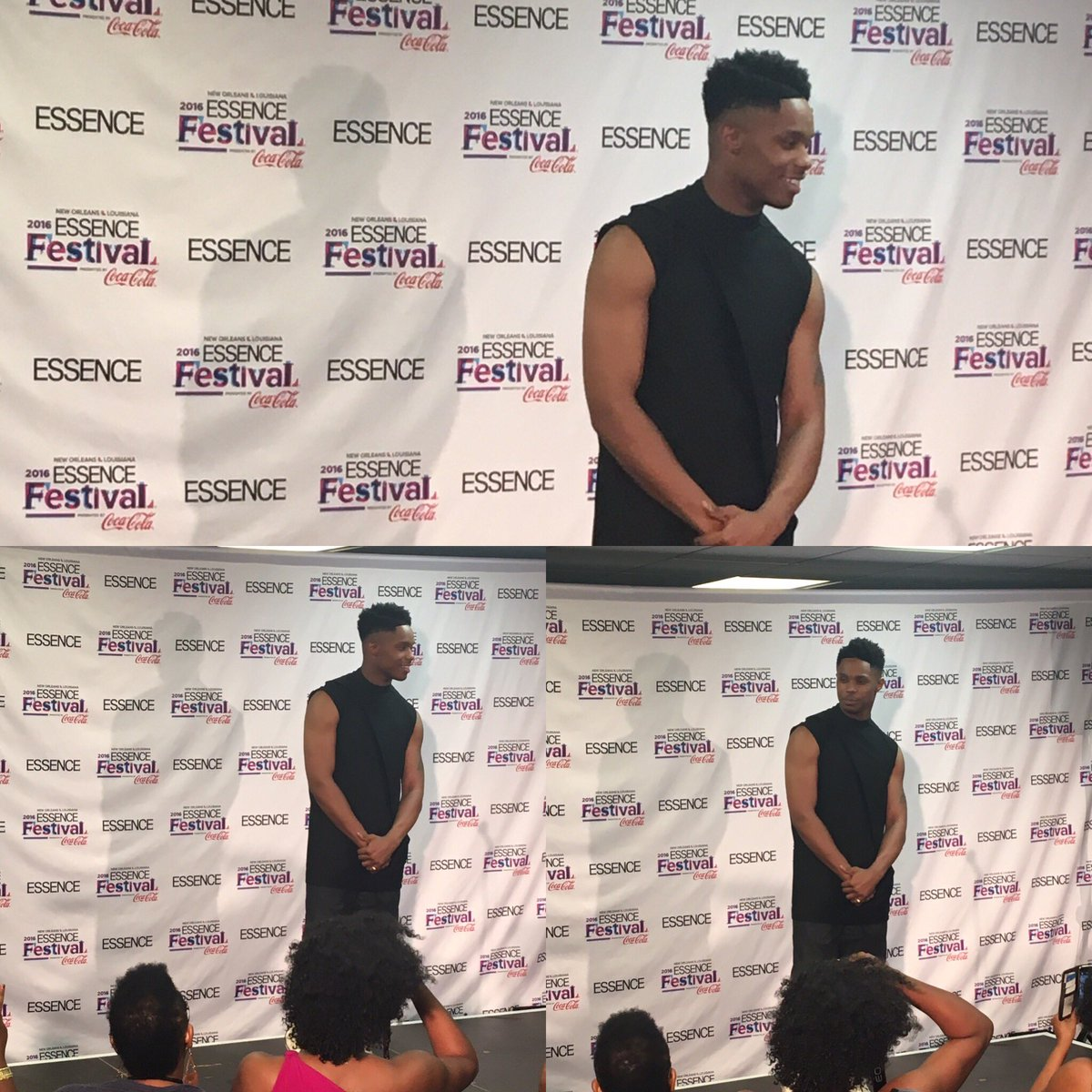 Checking out @AveryWilson in the #EssenceFest media rm tkg abt his 1st #Mainstage show! #EssenceFestival #Talented https://t.co/ELwjzRhRl7