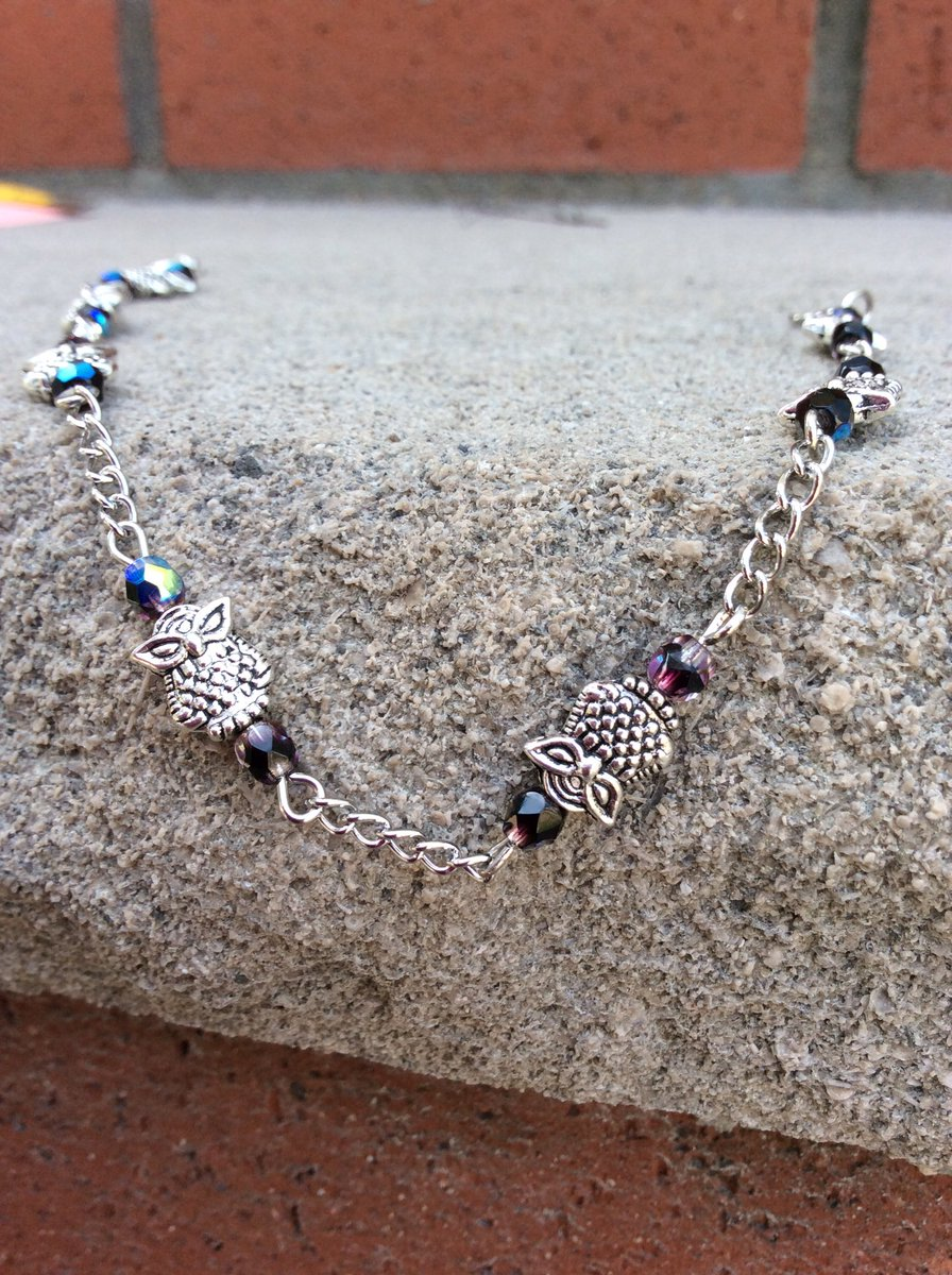Jenuine Jewelry On Twitter Unique Owl Ankle Bracelet Beaded Anklets In My Link Bio Owls Anklet Fashionista