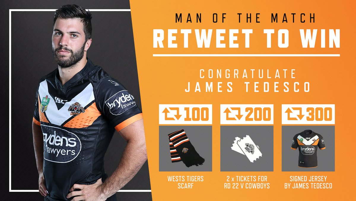 #RETWEET to congratulate @jamestedesco93 as today's Man of the Match and you could win some great prizes! #WinAsOne https://t.co/X9fsP6SZLo