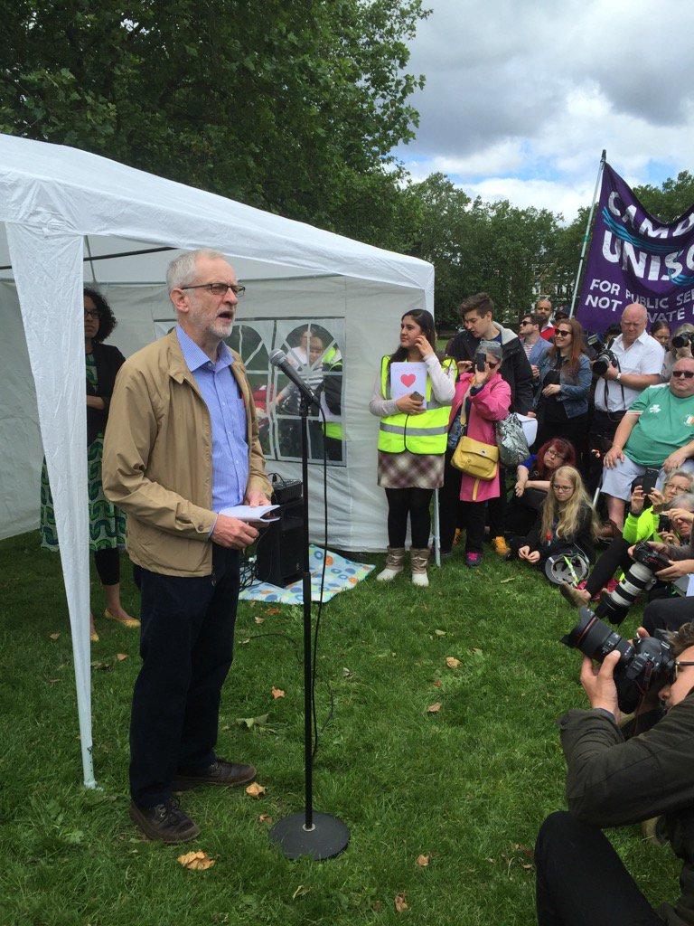Love Islington anti hate crime rally with @jeremycorbyn. https://t.co/oAmqkTdviN