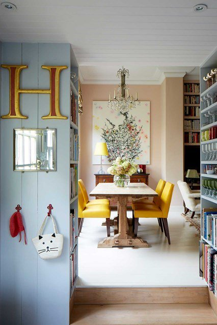House garden on twitter rita konig 39 s west london flat for Small dining room ideas uk
