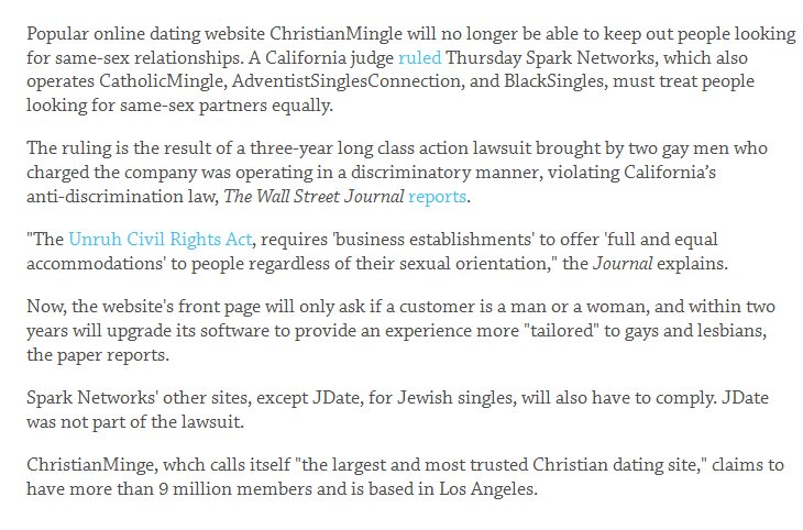 sparks network dating sites california ruling