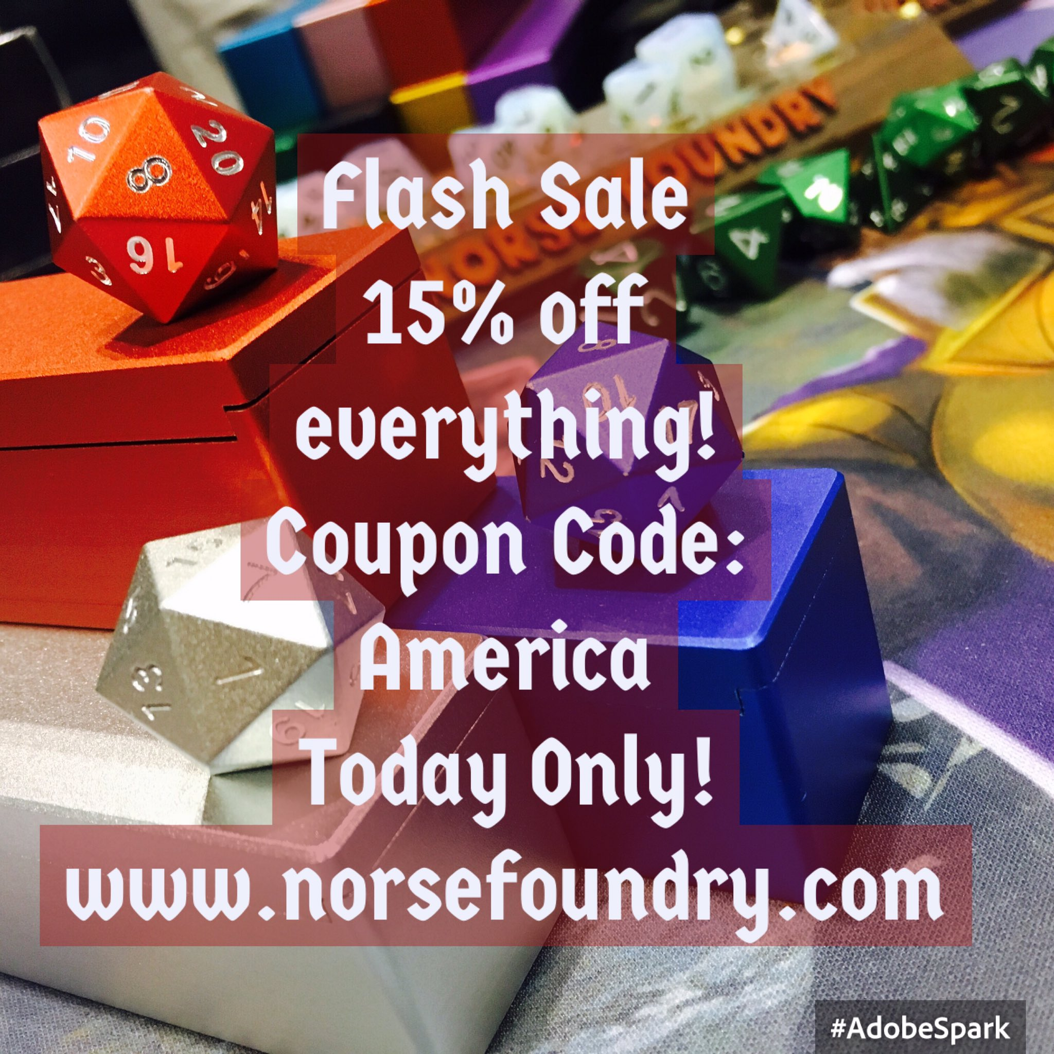 Norse Foundry On Twitter Flash Sale 15 Off Everything No Limits Today Only Https T Co Tz0cudl5au Dice Dicesale Flashsale Rpgcoins Norse foundry is raising funds for atmar's cardography: twitter