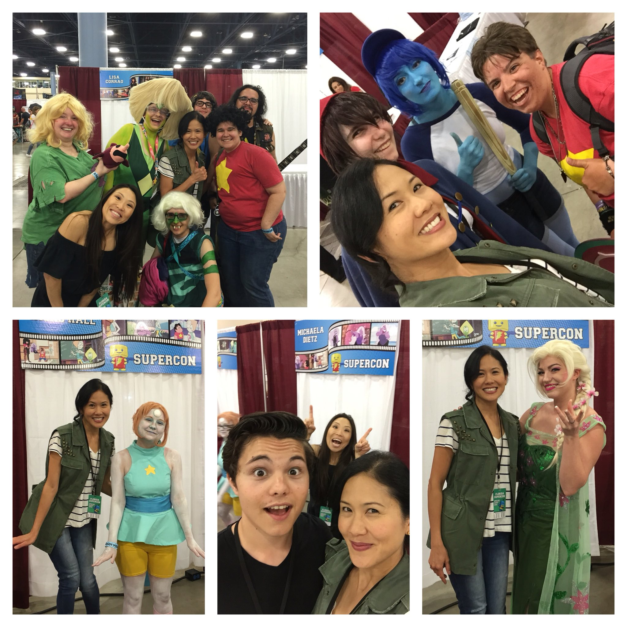 """A few highlights from 1st day @FloridaSupercon! Hope to see more #StevenUniverse #cosplay 2day! SU fans are amazing!"""