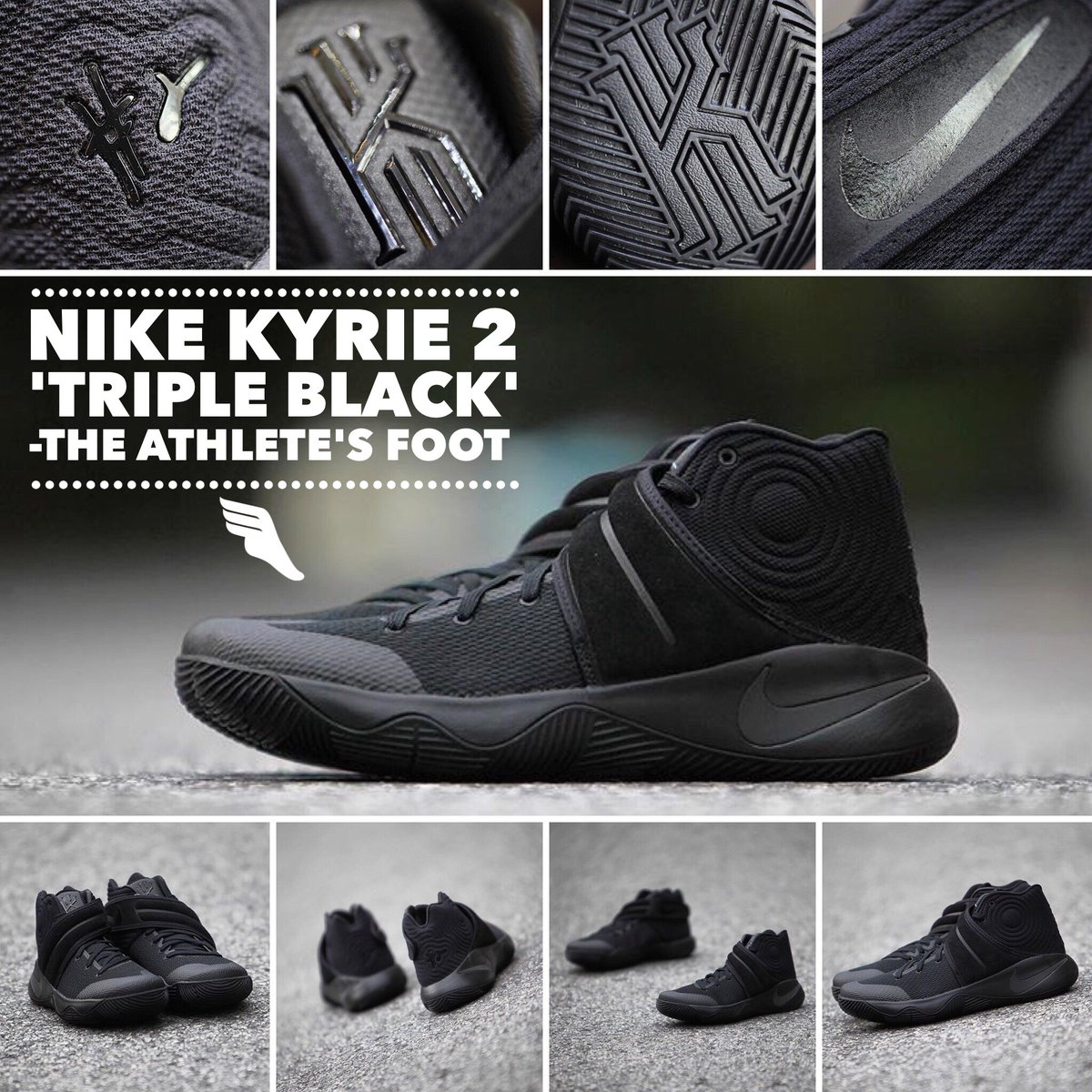 best sneakers f9e8e b173b ... order the athletes foot nc on twitter featuring a premium suede midfoot  strap the nike kyrie ...