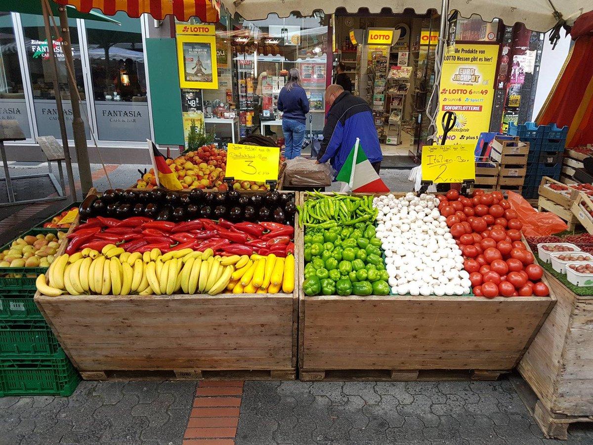 Greengrocers in Frankfurt set the mood for #GERITA
