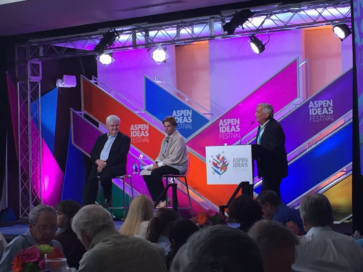 Former House Speaker @newtgingrich talking Trump, Sanders & the American spirit of rebellion at #AspenIdeas https://t.co/ANSeff856N