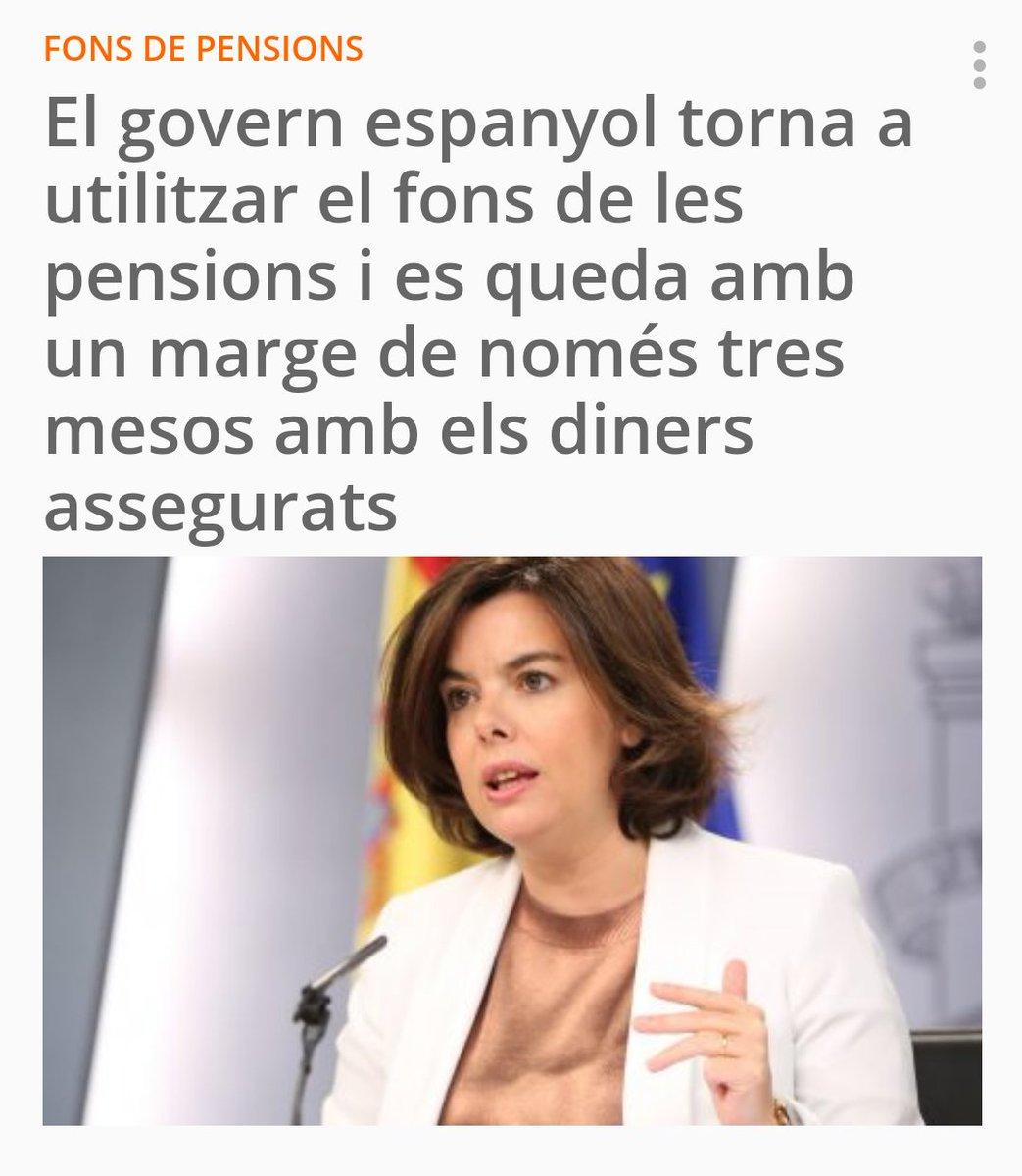 El govern espanyol torna a utilitzar el fons de les pensions i es queda amb un marge de només tres mesos amb els diners assegurats