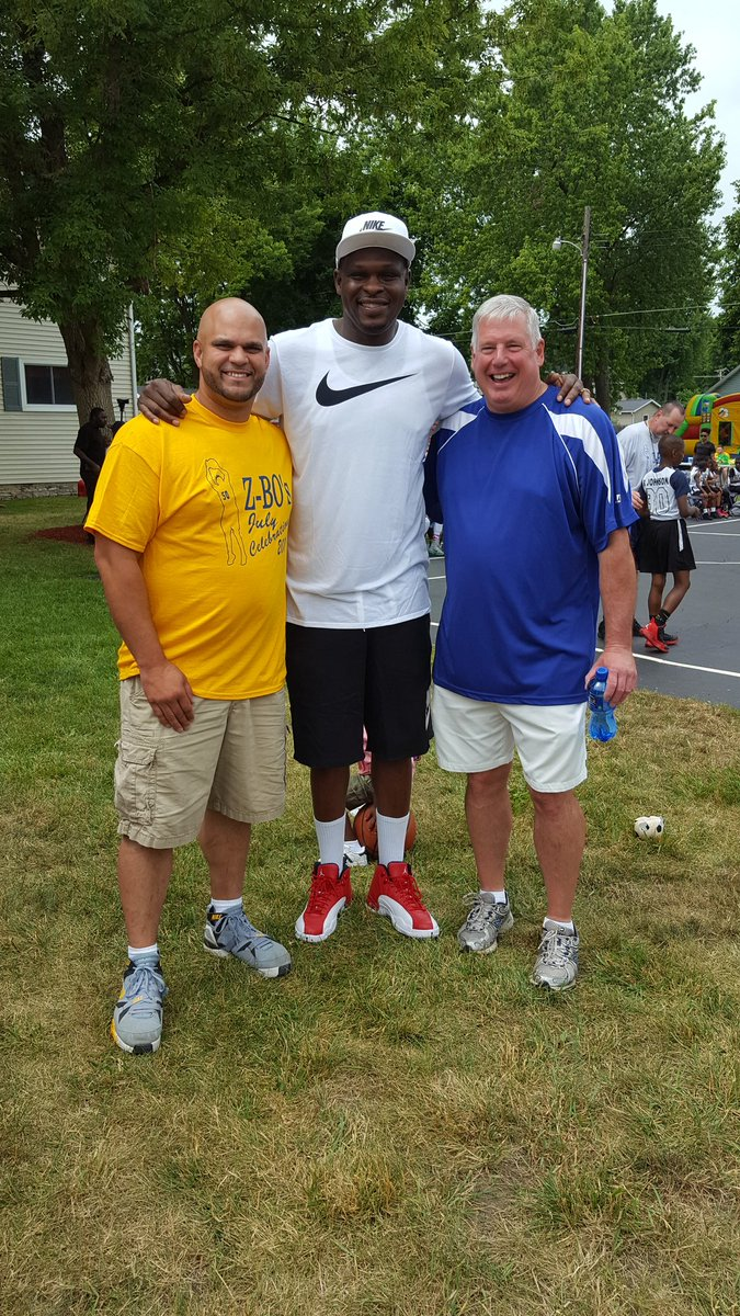 My best friend @drewmorrell81 & Marion mayor Jess Alumbaugh @my 4th of July Bball tournament/community block party.