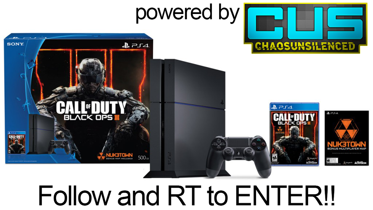 PS4 Black Ops 3 Bundle Giveaway, Follow @CUSFeed, Subscribe to #CUS https://t.co/FGKbF5xtK8 & RT to enter. Ends 7/17 https://t.co/cea3xNS9Uz