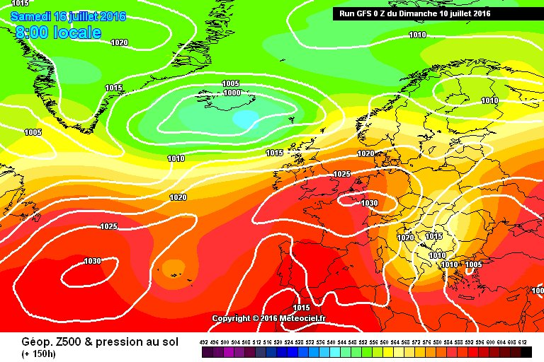 Models are hinting at high pressure and warmer #weather by next weekend - at least for a while! #summer