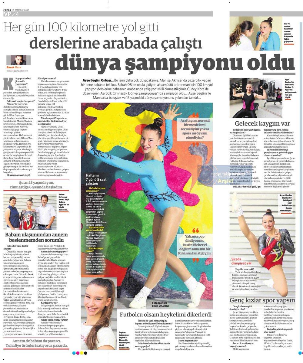 """15 yaşındaki dünya şampiyonu #AyşeBegümOnbaşı """"Futbolcu olsam heykelimi dikerlerdi"""" #vatanpazar https://t.co/WcfOoS013Y"""