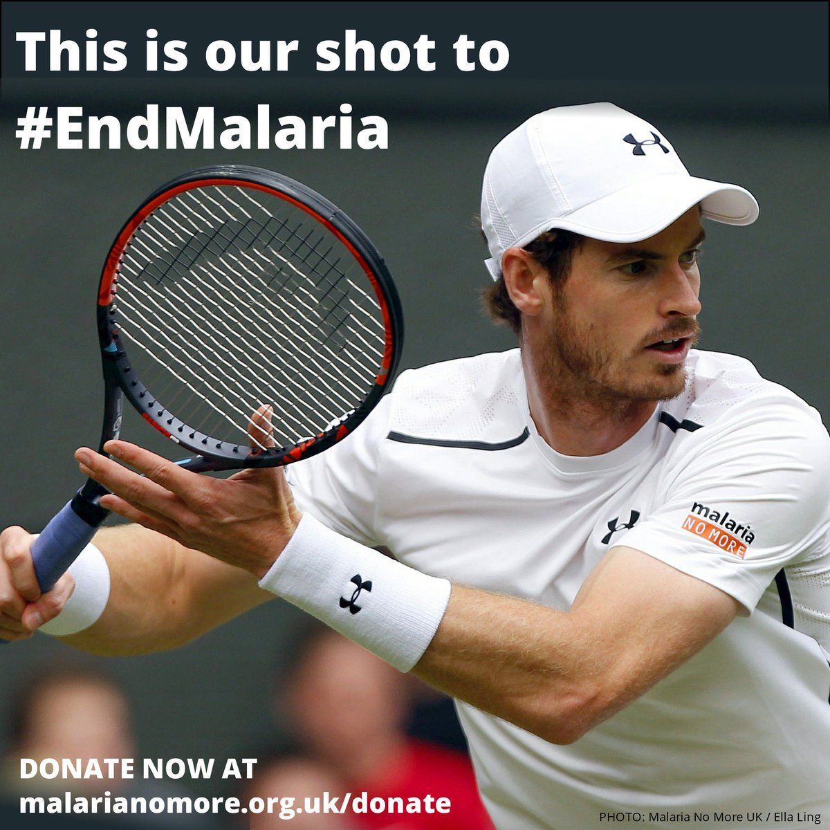 So proud Murray is sporting our logo in the #Wimbledon finals! You can help #EndMalaria too https://t.co/3ljgn7ig4p https://t.co/DT6oYWxXyk
