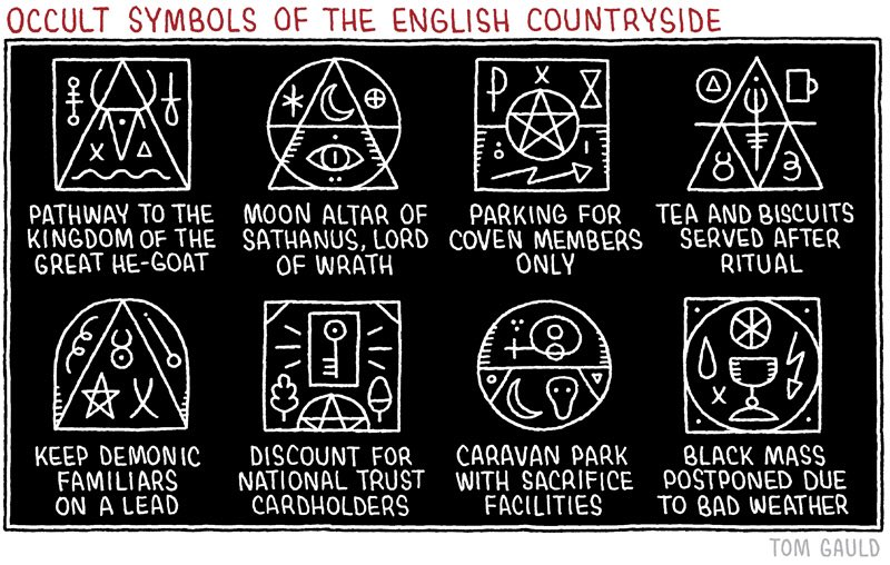 Tom Gauld On Twitter Occult Symbols Of The English Countryside