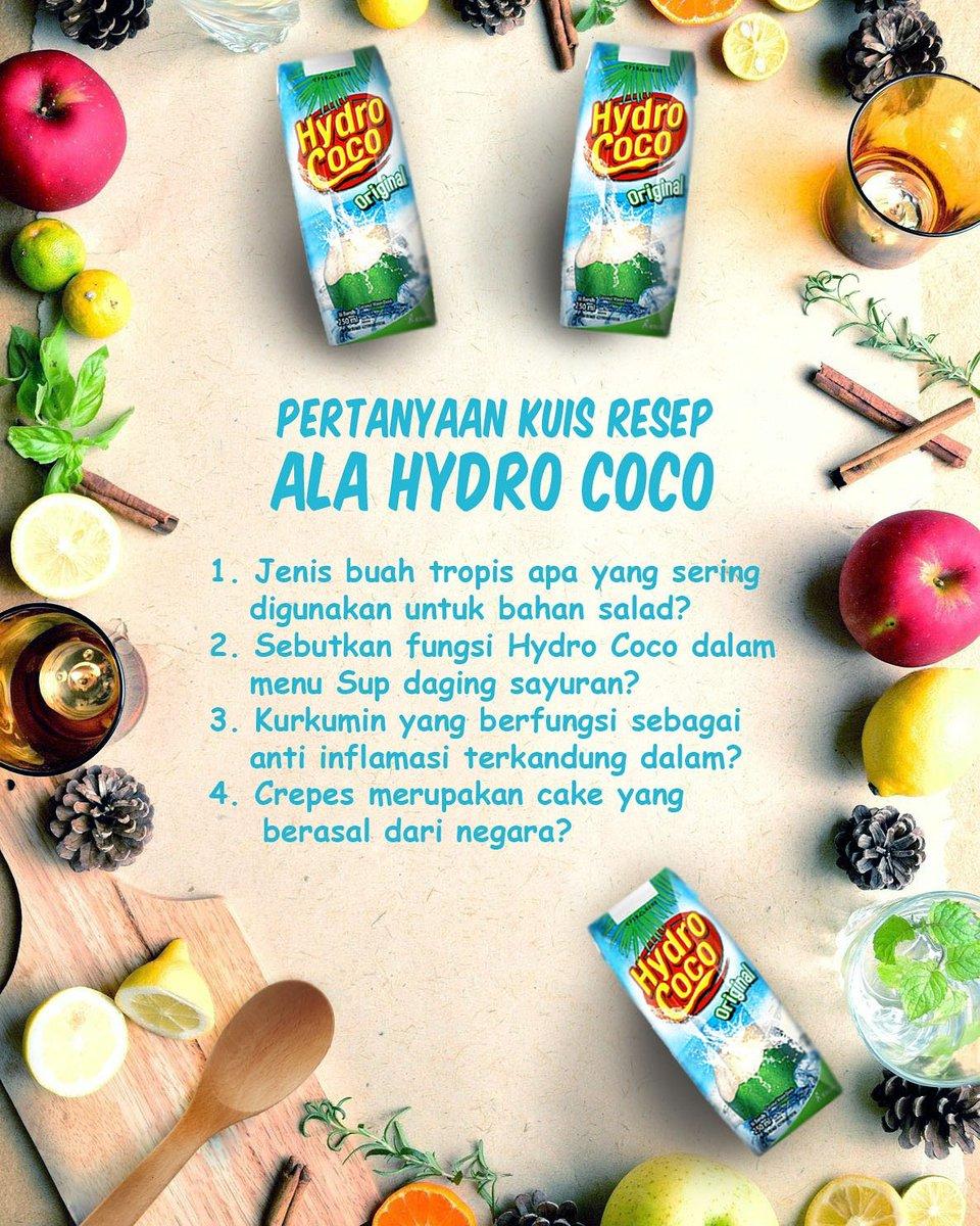 Waktunya kuis! Buat kamu yang mengikuti terus resep Ramadhan ala Hydro Coco pasti bisa menjawab pertanyaan berikut https://t.co/gVjLOvGP4C