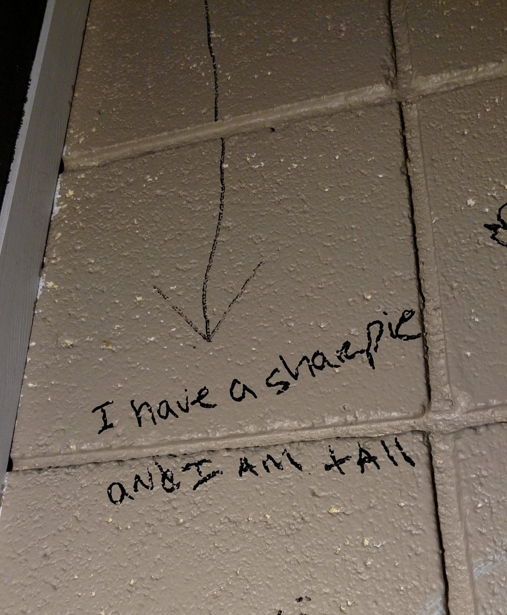 the bathroom graffiti narrative... it's very, very good. https://t.co/TtEbaYJMK9