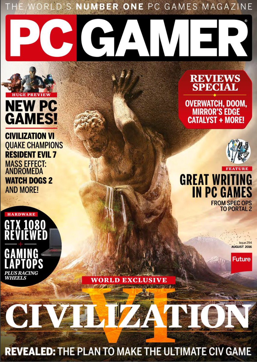 "on Twitter: ""August's 'PC GAMER' magazine front cover ..."