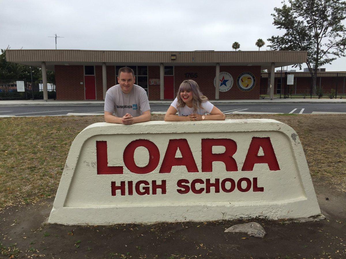 @gwenstefani Your high school!!! #LoaraHighSchool #NoDoubtAnaheimTour