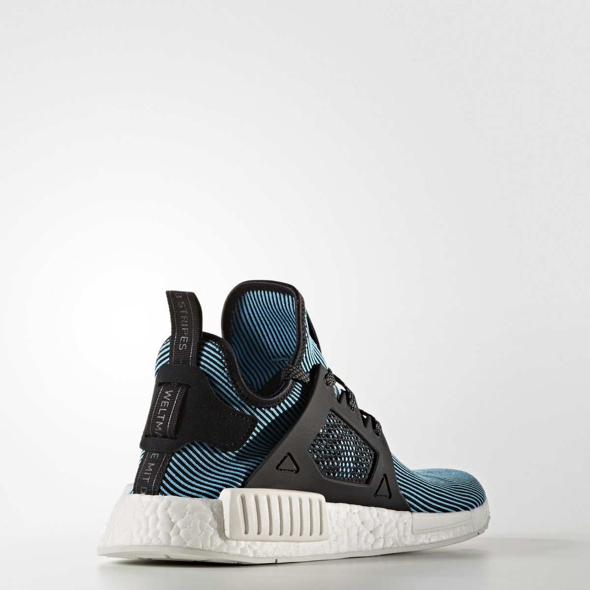 Adidas NMD XR1 Primeknit Black Blue On feet Video