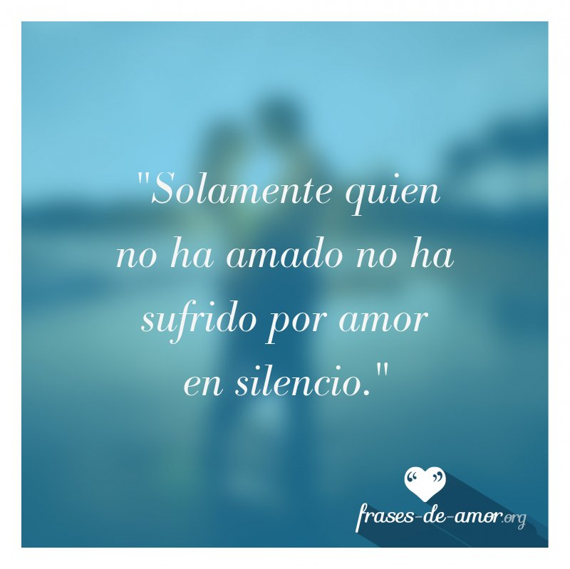 Frases De Amor On Twitter Solamente Quien No Ha Amado