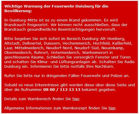 Fenster Türen Duisburg wdr aktuell on wichtige warnung der feuerwehr duisburg für
