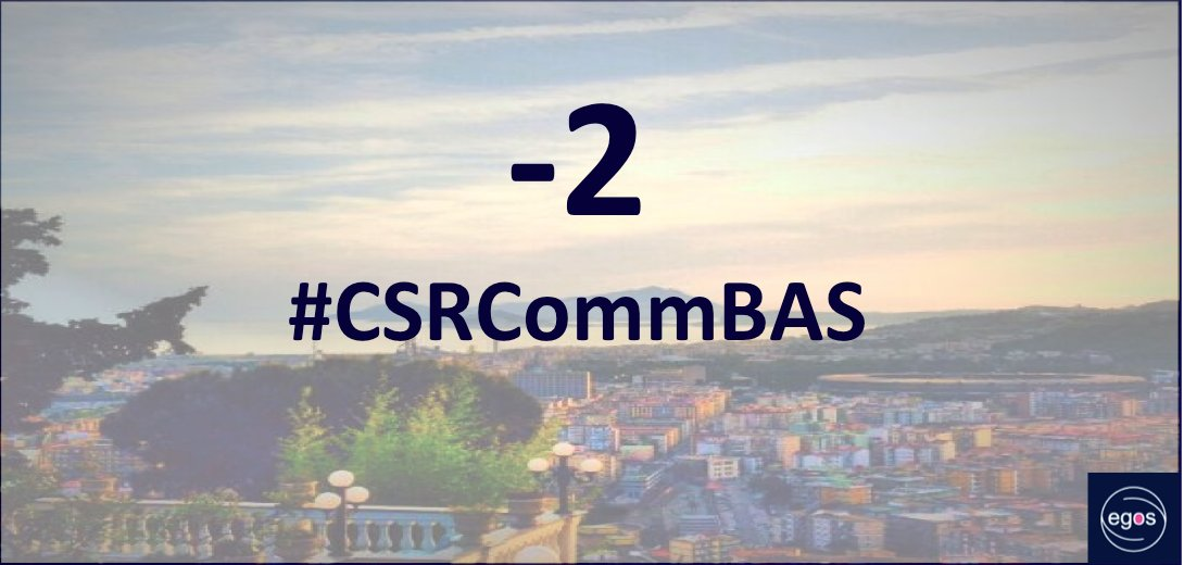 -2 days #CSRCommBAS PDW Corporate Social Responsibility and Communication #Egos2016 https://t.co/r72OceRQRt https://t.co/Krl7tvOfOK