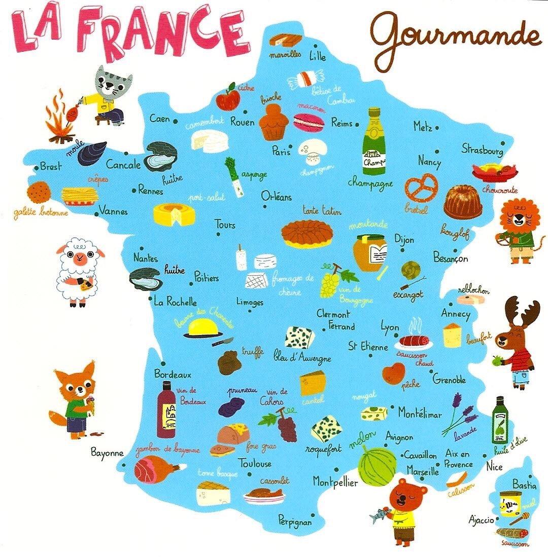 Carte gourmande de la france. #tourisme - scoopnest.com
