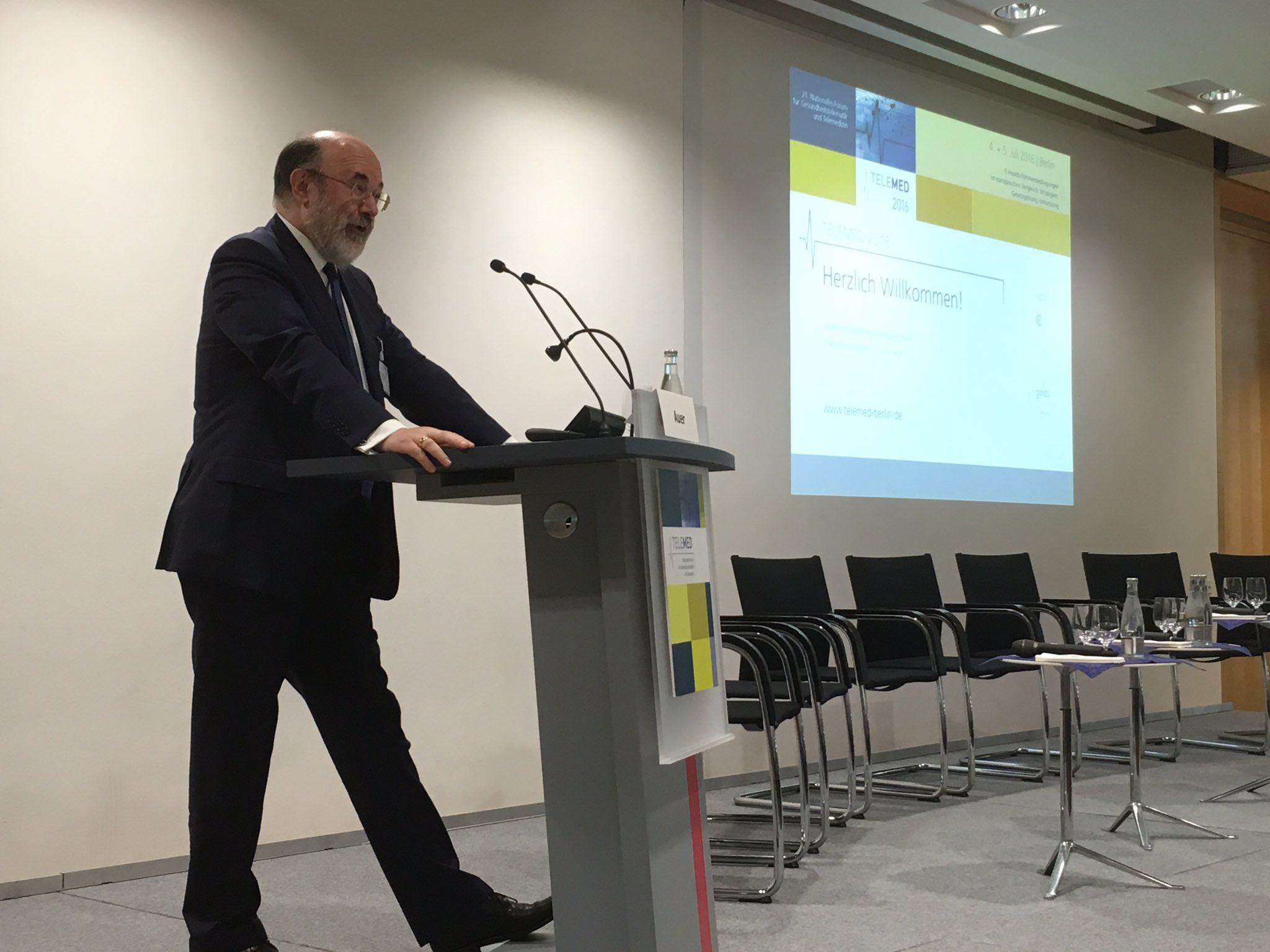 Auer (AUT) zu E-Health Strategie  in Europa, auch in schwierigen europ. Zeiten #telemed16 https://t.co/gE8Aj8viRB