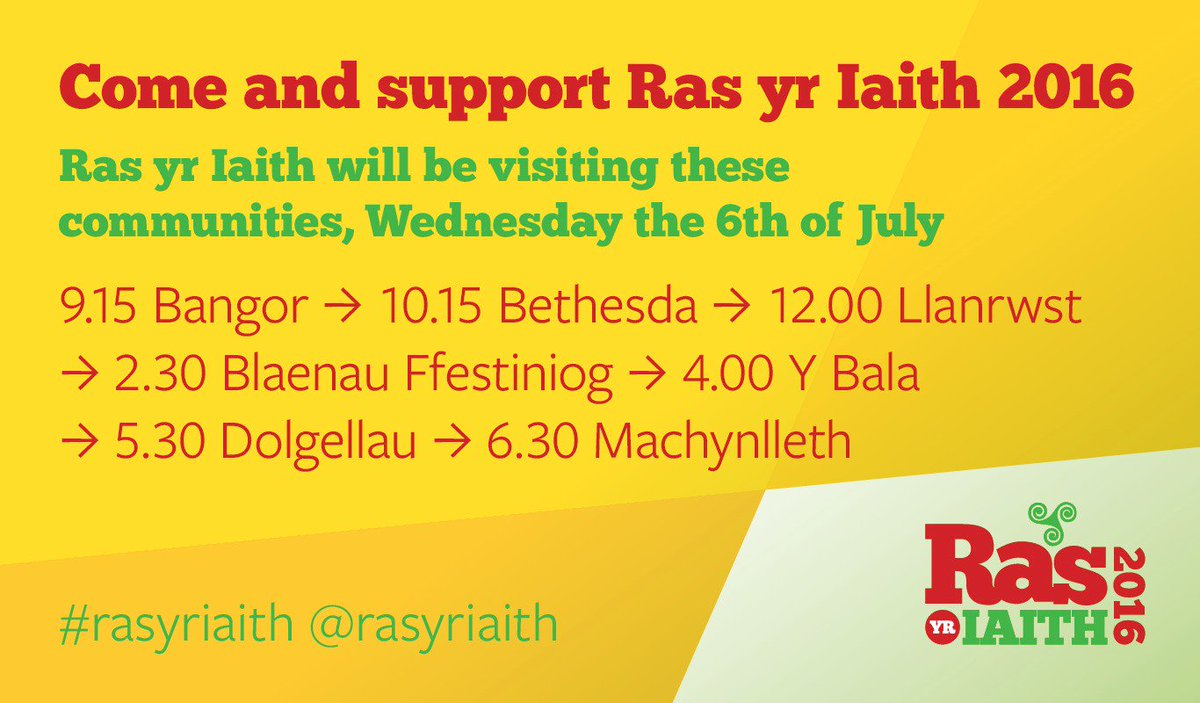 Ras yr Iaith (Race for the Language) is coming to North Wales this Wednesday, join in! #rasyriaith @mentrauiaith https://t.co/QxtGgwW5CS