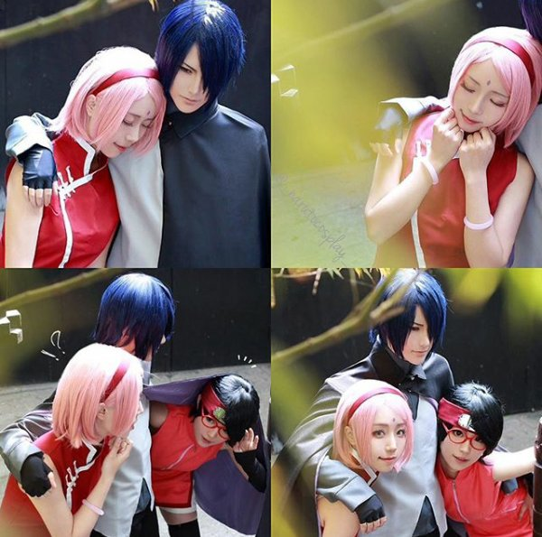 "Résultat de recherche d'images pour ""sarada sakura  cosplay"""