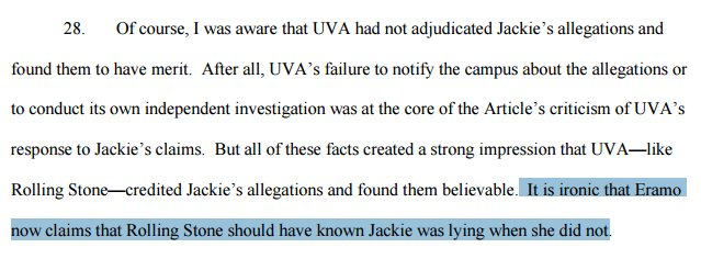 Rolling Stone's Woods' basic argument: UVA's system just as incapable of detecting the truth as Rolling Stone was: https://t.co/UevNiBAI8F